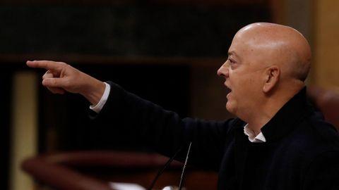 El diputado socialista Odón Olorza, hoy, durante su intervención en el debate del proyecto de Presupuestos Generales del Estado