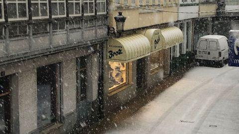 Nieve en Melide