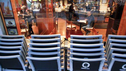 Café Avenida, en la plaza de España