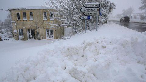 En el entorno del Camino de Santiago la nieve seguirá presente varios días