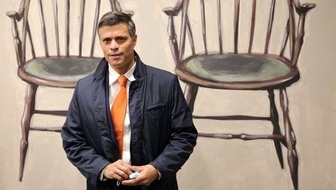 Leopoldo López, el viernes antes de un acto en Madrid