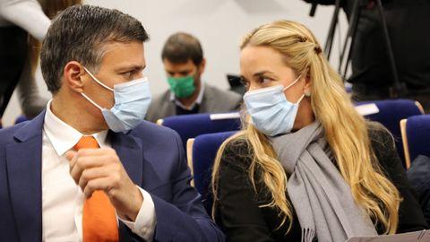 López, junto a su esposa, Lilian Tintori