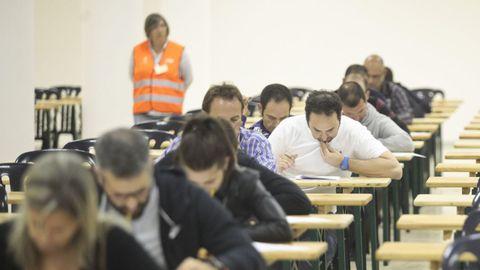 Imagen de archivo de un examen de oposiciones en el recinto ferial Semana Verde
