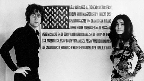 Lennon y Ono, en un fotograma del documental «The U.S. vs John Lennon»