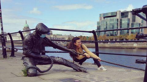 Tamara en Dublín, donde estuvo trabajando este otoño en una escuela Montessori antes de viajar a Alemania