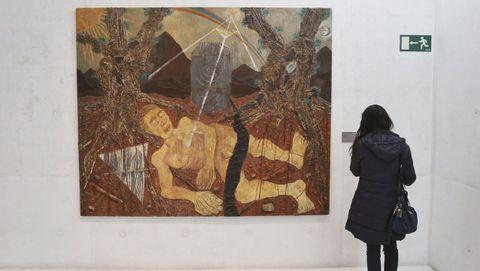 Detalle de una de las salas del Museo de Pontevedra