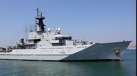 Barco patrulla Tyne, de la Marina británica