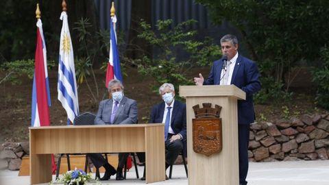 Imagen de la toma de posesión de Javier Carballal Casella como alcalde de Punta del Este, Uruguay, el pasado 28 de noviembre