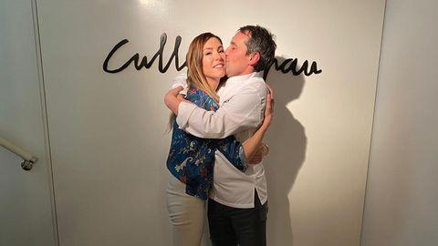 El chef Javier Olleros y su mujer Amaranta tras el anuncio de las dos estrellas del Culler de Pau
