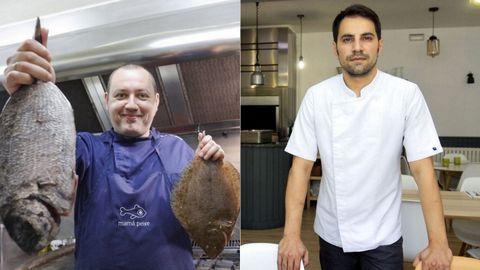 Guillermo Pérez, chef de Mamá Peixe, y Miguel Liboreiro, de O Tobo do Lobo