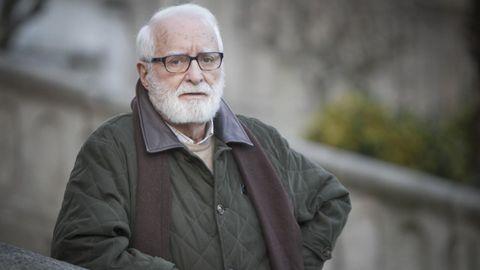 O escritor e xornalista Xosé Fernández Ferreiro, retratado na Coruña en marzo do 2013