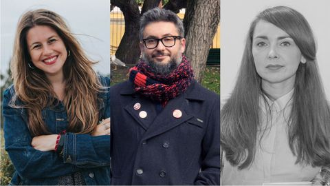 Andrea Maceiras, Antonio M. Fraga e María Marco Covelo