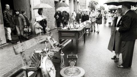 Feria de antigüedades y artesanía de Sarria en 1996