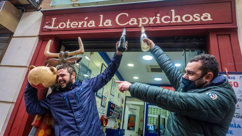 Tercer premio del Sorteo Extraordinario de la Lotería de Navidad, vendido en la administración número 12, La caprichosa, de Toledo