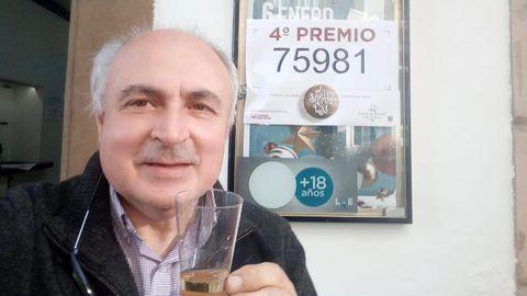 José Gil, propietario de la Administración Nº 1 de Villaviciosa