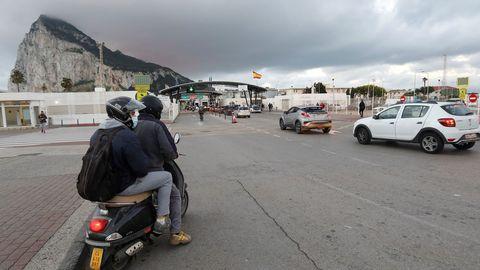 La frontera con Gibraltar, en una imagen de este martes