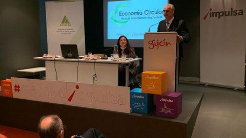 Un momento de una conferencia sobre economía circular organizada por ASATA