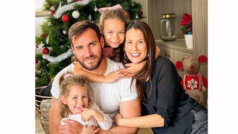 Saul Craviotto y su familia