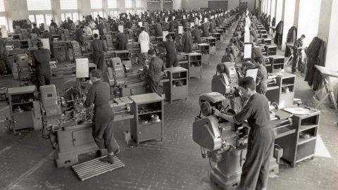 PAYARES. Taller de la Universidá Llaboral, h. 1960