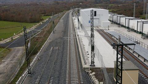Cambiador de ancho en Taboadela, a 17 kilómetros de Ourense