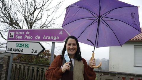 Sandra Pena, concejala del PSOE en Aranga, tuvo que confinarse junto a su hijo tras contagiarse de covid. «Me quedaron pequeñas secuelas, pero ya estoy recuperada», señala