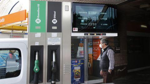 Una gasolinera de Poio, en una imagen de archivo