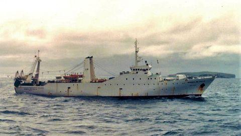 El Manuel de Falla, próximo a la isla Beauchene al sur del archipiélago de las Malvinas