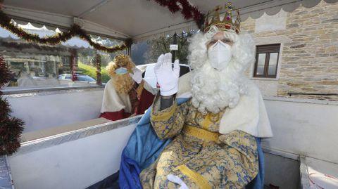 Los Reyes Magos, de recorrido por Zas