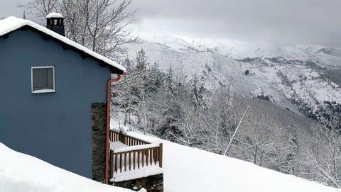 Paisaje nevado en Cervantes en los primeros días del 2021