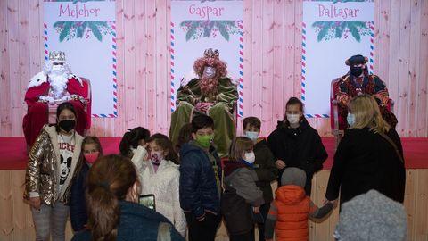 Por la tarde los Reyes Magos estuvieron en Augas Férreas