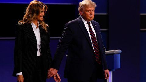 Los desplantes. Son la tónica común de este matrimonio. La primera dama le ha negado la mano a Trump en numerosas ocasiones.