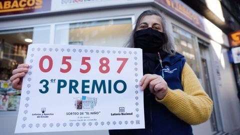 Lotería del Niño 2021 en Galicia: tercer premio vendido en la administración de la avenida Finisterre 270 de A Coruña