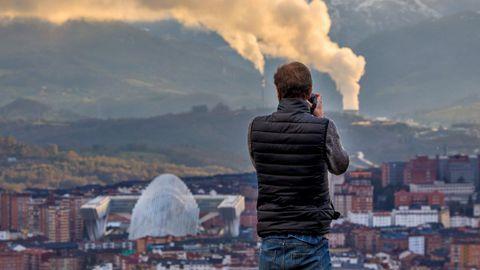 Vista de Oviedo desde el Naranco