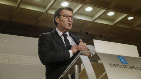 Feijoo explica las nuevas restricciones para Galicia