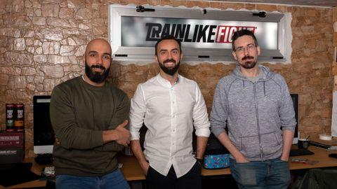 Mike Soutullo, director de Arte, Rubén Pomar-Giao, CEO, y Richard Rivadulla, Internacional Service Manager de TrainLikeFight
