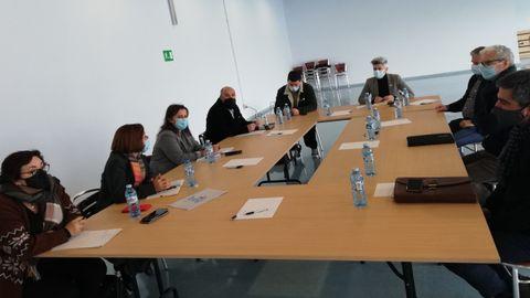 Reunión de los representantes del BNG con el Consejo Administrador de la Lonja de A Coruña