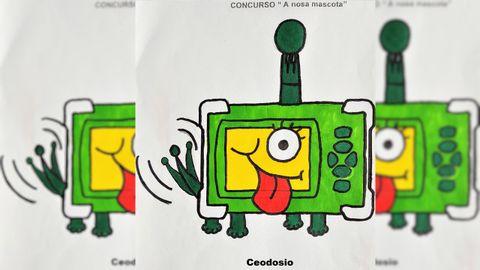 Ceodosio es el nombre del contador de CO2 que hay en cada aula del IES Eusebio da Guarda y se ha convertido en la mascota oficial del centro en este curso