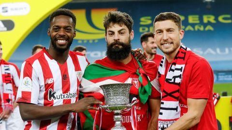 Los tres goleadores del Athletic de Bilbao en la final de la Supercopa ante el Barcelona