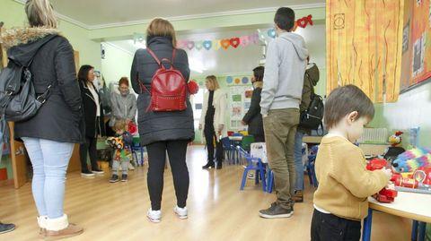 Foto del pasado febrero, durante una jornada de puertas abiertas en el colegio San Rosendo de Ferrol