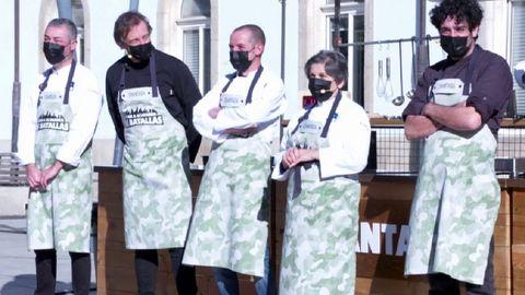 Integrantes do equipo gastronómico que representa á comarca de Chantada