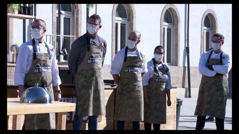 Membros do equipo que representa á comarca de Lemos na nova entrega do concurso gastronómico
