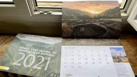 El castro de Santa María de Cervantes ilustra el mes de marzo del calendario de National Geographic