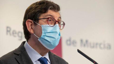 El consejero de Salud de la Región de Murcia, Manuel Villegas