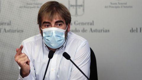 El portavoz de Podemos Asturias, Daniel Ripa