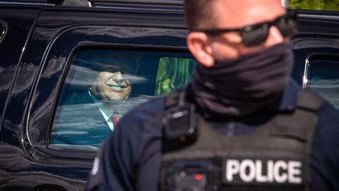 Trump, a su llegda el miércoles a su residencia en Palm Beach (Florida)