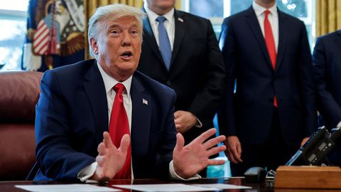 Trump en el Despacho Oval, en una imagen de octubre del 2020