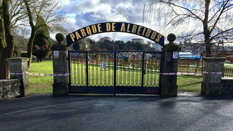 Los parques de Lugo están cerrados por los avisos de temporal