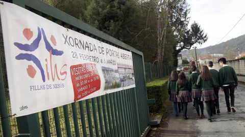 Imagen de archivo del colegio María Assumpta que, según el informe de la Consellería de Educación, tiene tres casos registrados