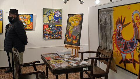 La exposición sobre Labajjo celebrada en la galería Nova Rúa, el pasado mes de noviembre