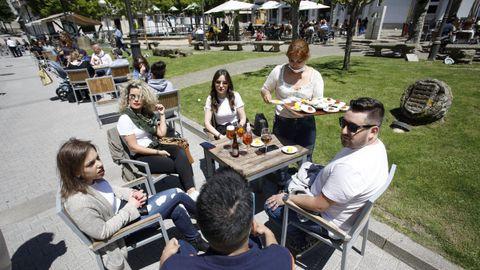 PRIMAVERA. El 16 de mayo, en desconfinamiento, la ciudad de Lugo vivía jornadas soleadas, con 3 grados por encima de los valores climáticos medios